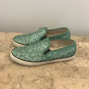 New sequin slip on shoes